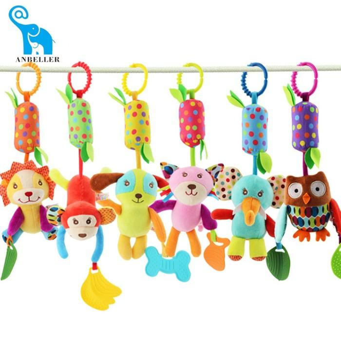 Foto Produk Bayi lonceng Angin mainan mewah Hewan Klip Guncang Stroller Boks dari septo star
