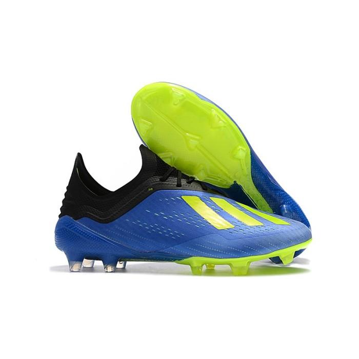 Foto Produk Tas sepakbola gratis】 X 18.1 FG 39-45 Asli Sepatu Sepak-Blue dari paharjo stock