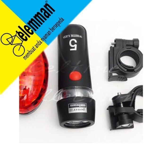 Foto Produk Lampu Sepeda Depan Belakang Satu set dari teguh917