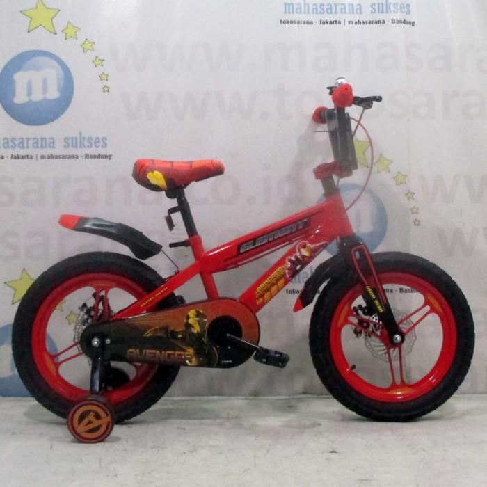 Foto Produk Termurah Sepeda Anak Element Marvel Avengers Iron Man Lisensi BMX 4-7 dari mutak647