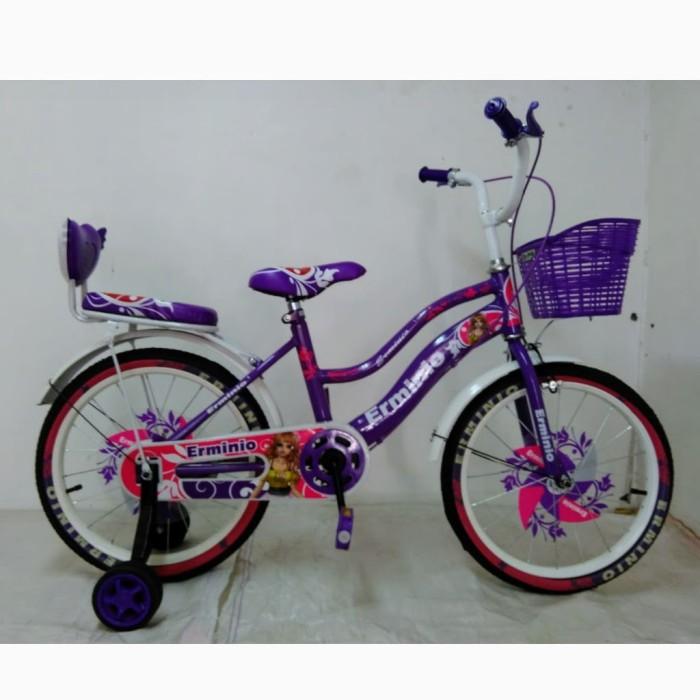 Foto Produk Termurah Sepeda Anak Erminio 2403 Princess CTB 5-8 Tahun 18 Inci Steel dari mutak647