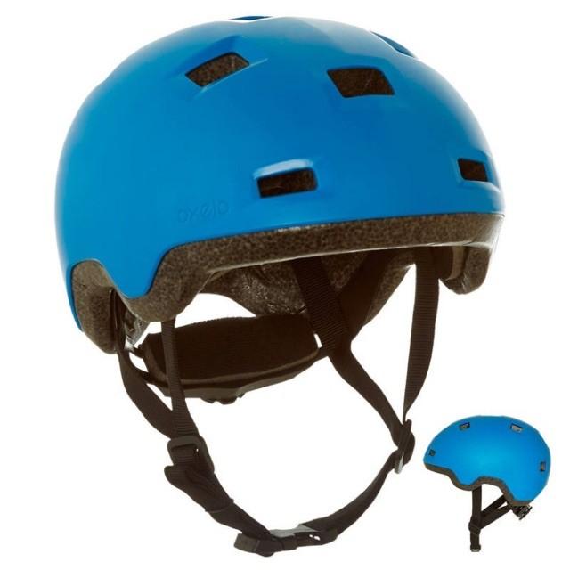 Foto Produk Termurah Oxelo Helm Sepeda Anak B100 Inline Skateboard Original - Biru dari mutak647