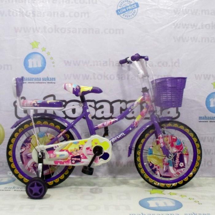 Foto Produk Termurah Sepeda Anak Centrum Flower CTB 4-7 Tahun 16 Inci Naik Turun S dari mutak647