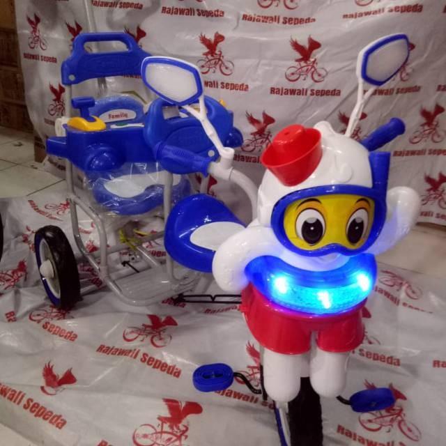 Foto Produk Sepeda anak roda tiga family 902 k doble musik boneka octopus boncenga dari mutak647