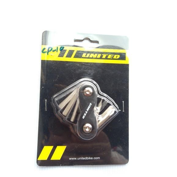Foto Produk Termurah Kunci L Hex Mini United 6 in 1 UNITED dari mutak647