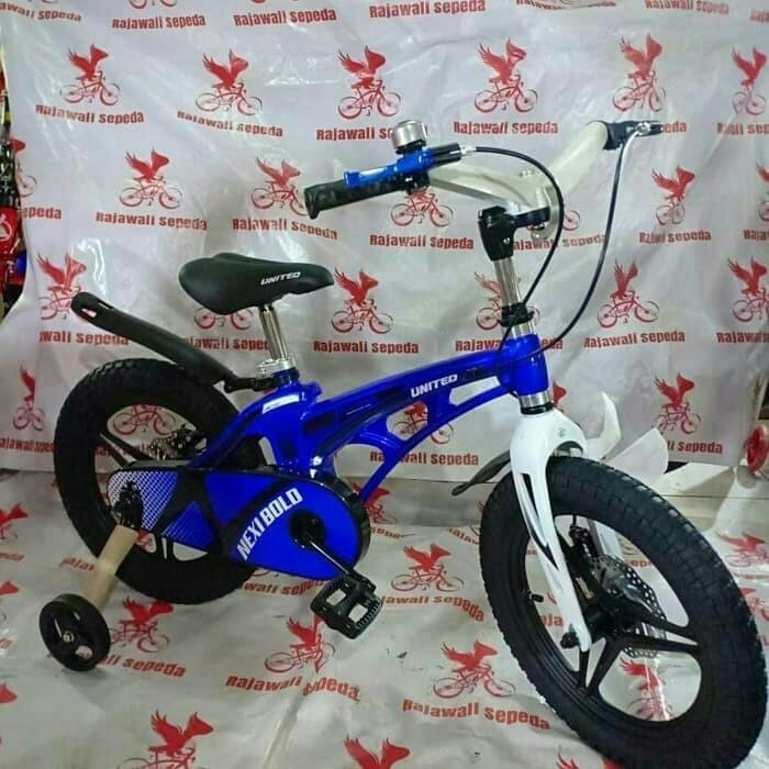 Foto Produk Termurah Sepeda anak 12 bmx united nexi bold alloy v racing doble cakr dari mutak647