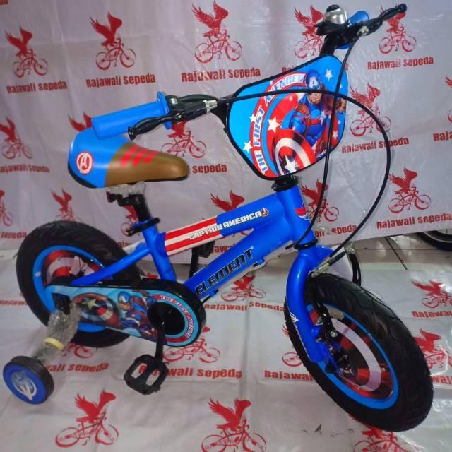 Foto Produk Termurah Sepeda anak 12 bmx element KARAKTER CAPTAIN AMERIKA dari andri756