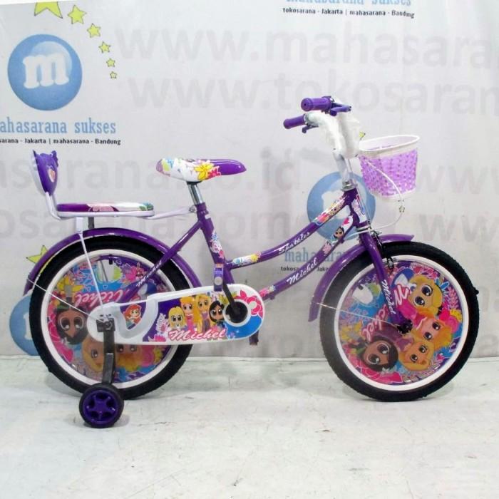 Foto Produk Sepeda Anak Michel Sparkles CTB 5-8 Tahun 18 Inci Steel Rem Caliper Tr dari novia197