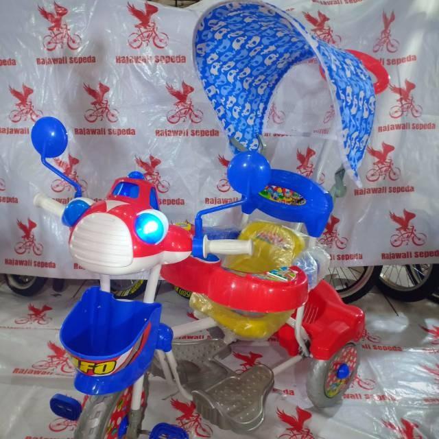 Foto Produk Sepeda anak roda tiga royal 3082 c ic musik UFO kanopi stir dorongan dari rendi474