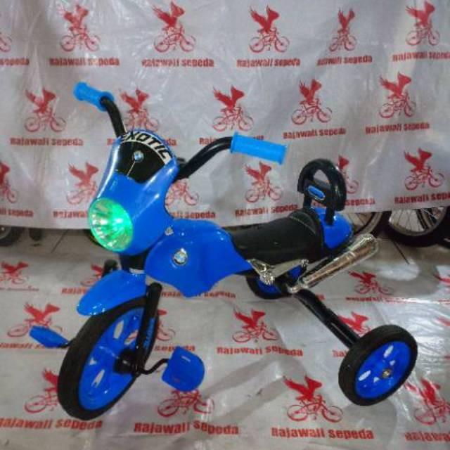 Foto Produk Termurah Sepeda anak roda tiga besi exotic 1258 model motor musik dari rendi474