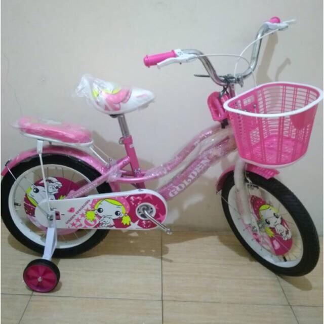 Foto Produk Termurah Sepeda Anak Mini 16 Golden Space Girl dari rendi474