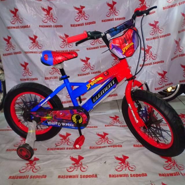 Foto Produk Termurah Sepeda anak 16 bmx element SPIDERMAN BAN BESAR dari rendi474