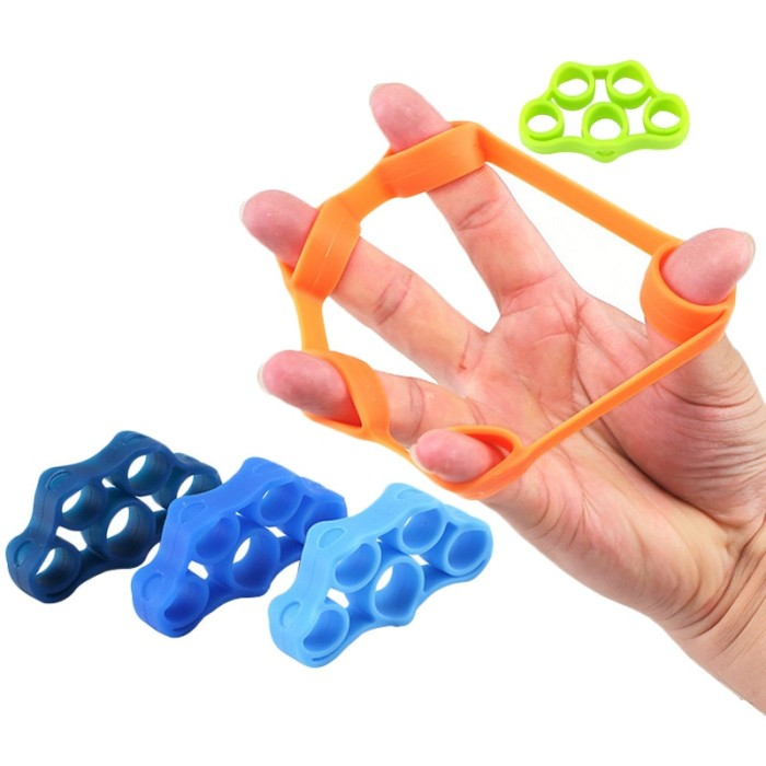 Foto Produk PROMO 6pcs Finger resistance bands Hand Gripper Forearm Wrist dari Evelyn Store07