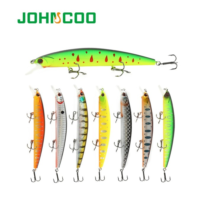 Foto Produk PROMO JOHNCOO 130mm 20g Rudra Hard Fishing Lure Minnow Bait dari Evelyn Store07