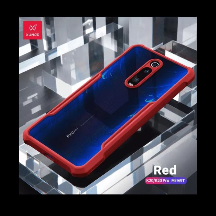 Foto Produk Xiaomi Redmi K20Pro Mi9T Note 8 Pro XUNDD Protective Bumper Cove Case - Red dari Barelang Island Shop