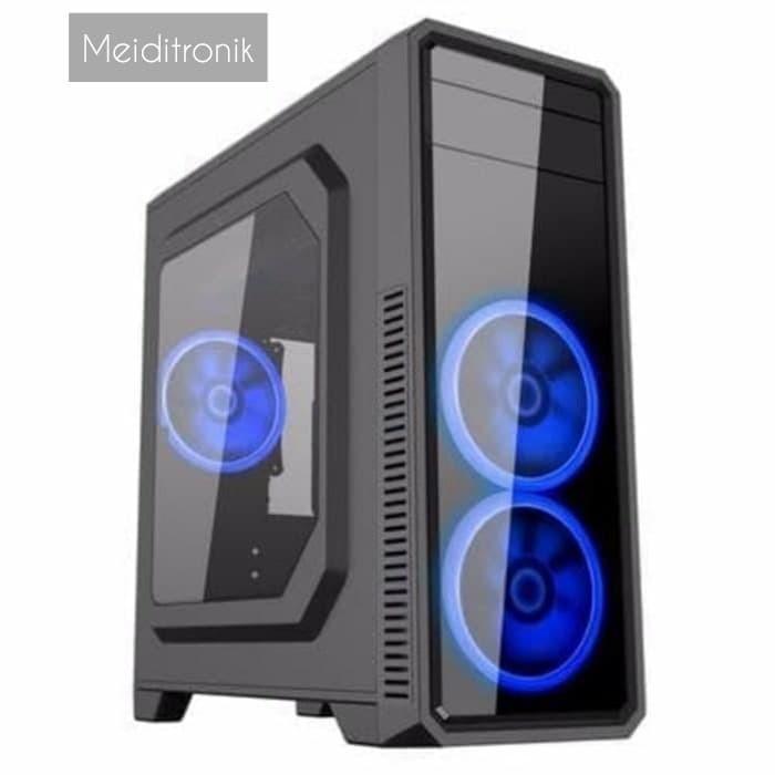 Foto Produk Casing PC Gamemax G561 Black Casing gaming murah best seller dari Meiditronic