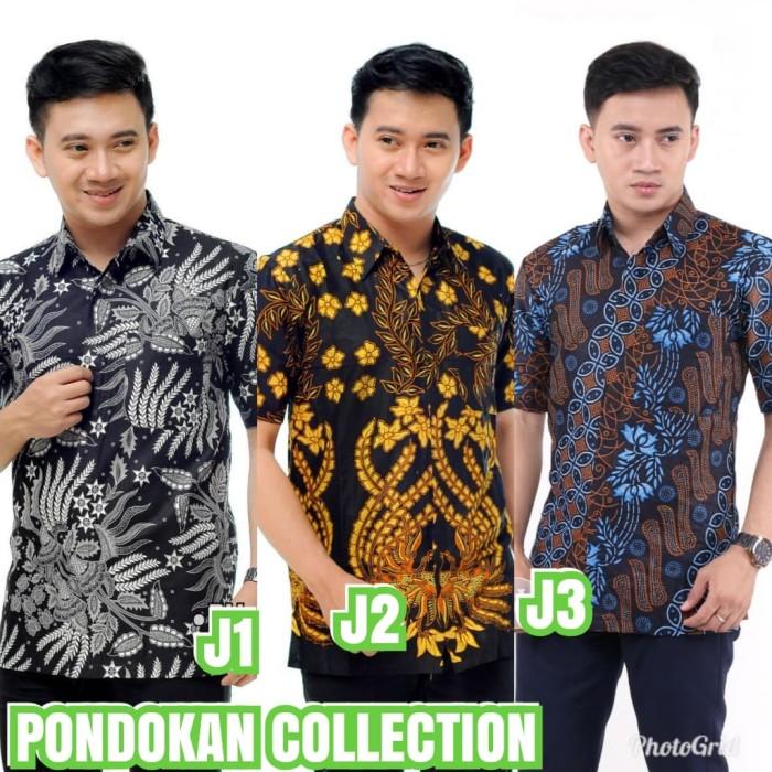 Foto Produk Kemeja batik Seragaman Lengan Pendek - Biru dari Batik Pondokan Colletion