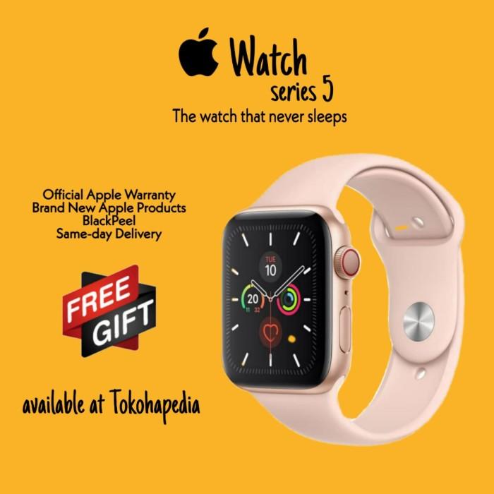 Foto Produk Apple Watch / iWatch Series 5 40mm Gold with Pink Sand SportBand MWV72 - RESMI INTER dari tokohapedia