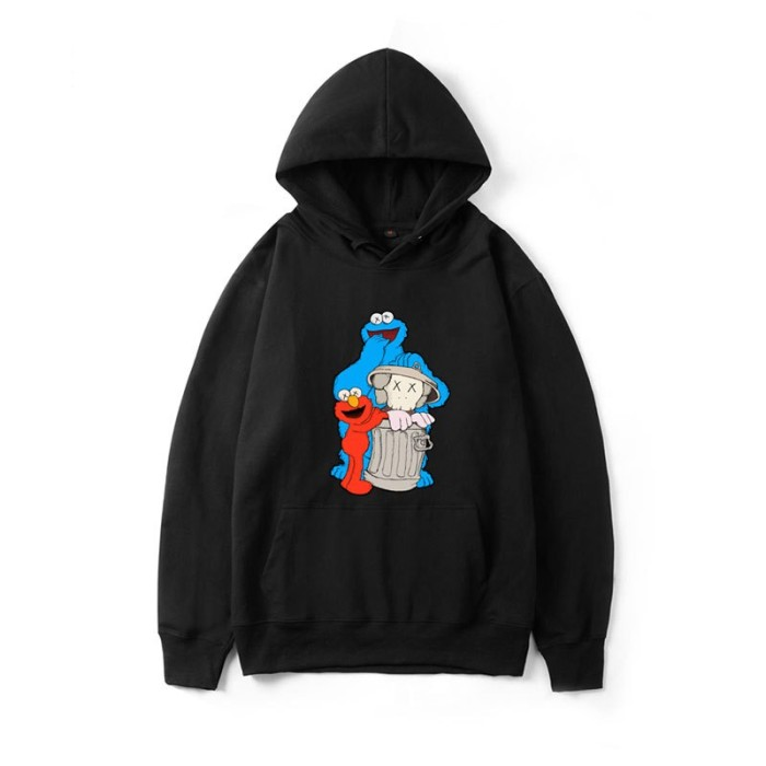 Foto Produk KAWS X SESAME STREET Sweater berkerudung lengan panjang Pakaian dari Quickto