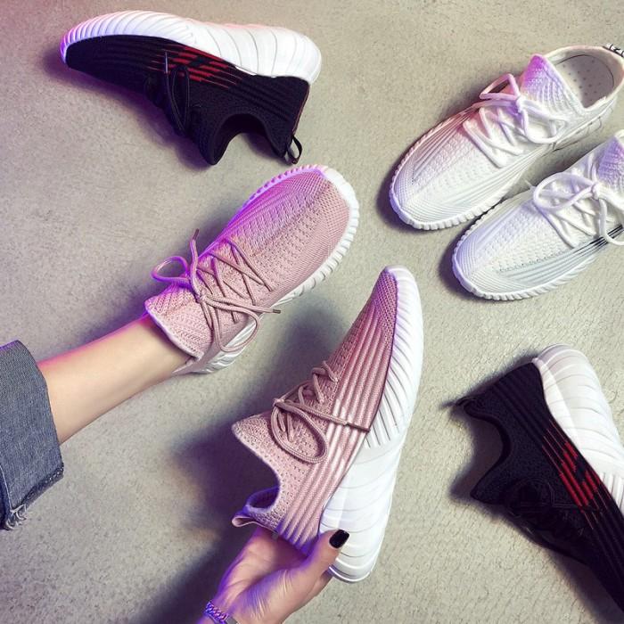 Foto Produk Free kaus kaki】35-40 Sepatu Sneakers Olahraga Sepatu Wanita dari Quickto