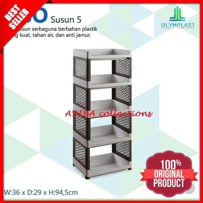 Foto Produk Rak Plastik Serbaguna 5 Susun Premium dari hawanepanakstores