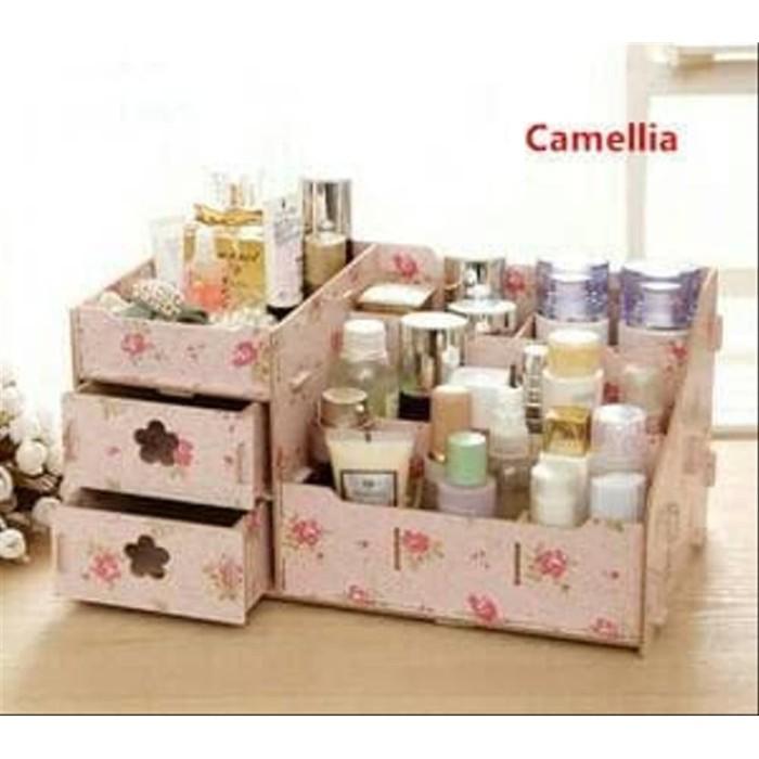 Foto Produk wadah kecantikan wadah kosmetik tempat asesoris lemari kecil dari halalenastore
