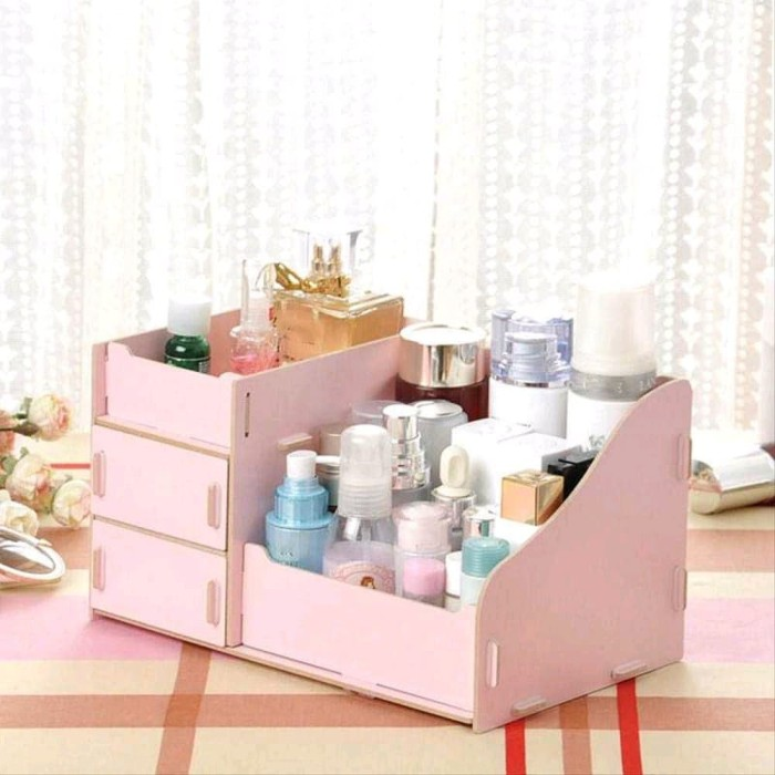 Foto Produk Kotak Kosmetik Kayu Size L DIY dari halalenastore