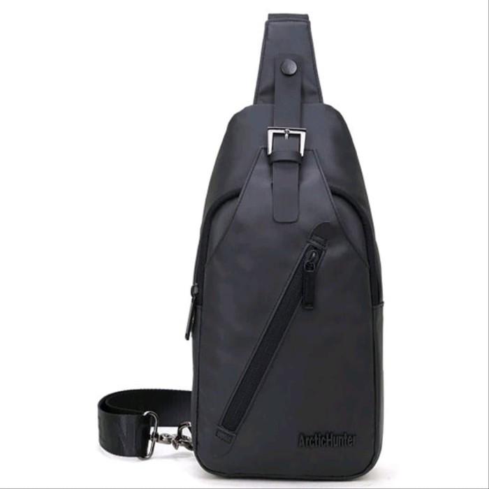 Foto Produk ArcticHunter Tas Selempang Oxford Cloth Waterproof - Black dari halalenastore
