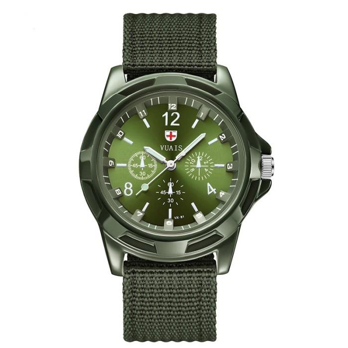 Foto Produk Casual Classic Design Quartz Men Fashion Wrist Watch Black Nylon Army dari Jujuwlstore