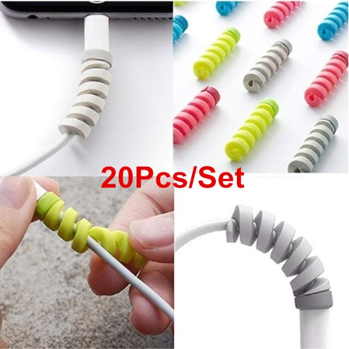 Foto Produk Best☆20Pcs Cable Protector Saver Cover for Mobile Phone USB Charger dari Jujuwlstore