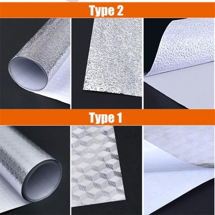 Foto Produk Dapur Dinding Kompor Aluminium Foil Stiker tahan Minyak Anti-fouling dari Jujuwlstore