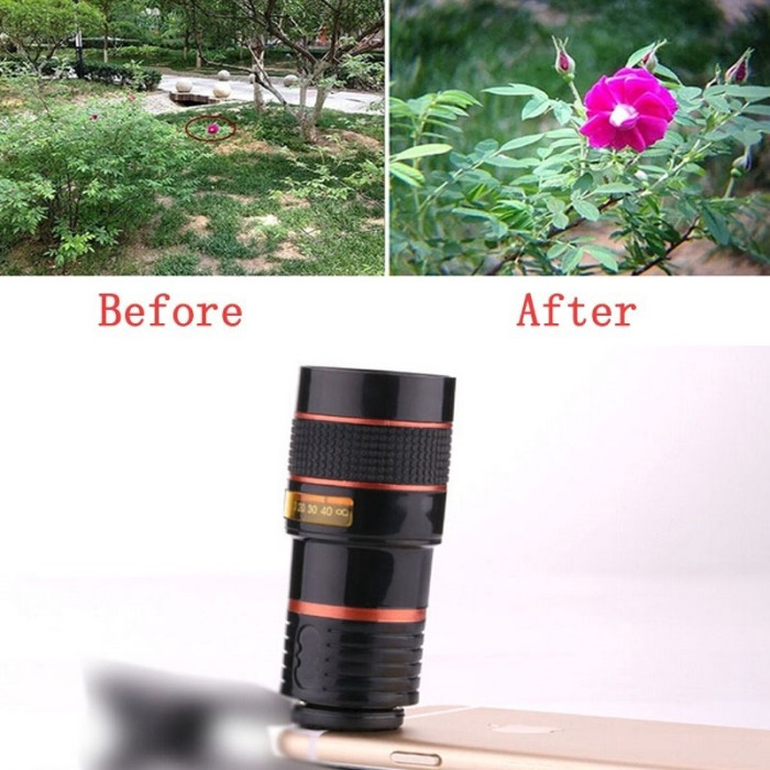 Foto Produk HD360 Zoom Optical Clip Telephoto Telescope Camera Lens for Smart dari Jujuwlstore