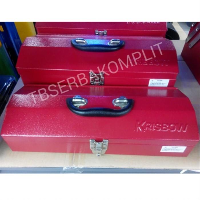 Foto Produk ToolBox Kaleng Besi 1 Susun Steel Tool Box Kualitas Bahan Kuat Tebal C dari hasimbianstores