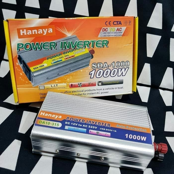 Foto Produk power inverter hanaya 1000w dari gadgettekno shopn