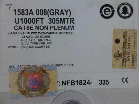 Foto Produk Cable BELDEN UTP / Kabel UTP Cat.5E 305meter 1583A ASLI dari joehapoy