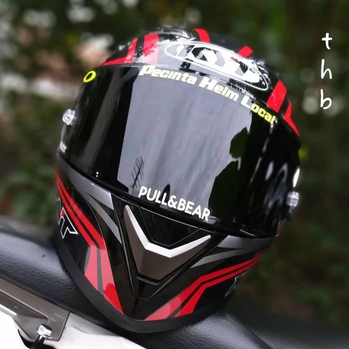 Foto Produk KYT Falcon Carbon Red visor darksmoke flat dan asesoris dari vinkha g