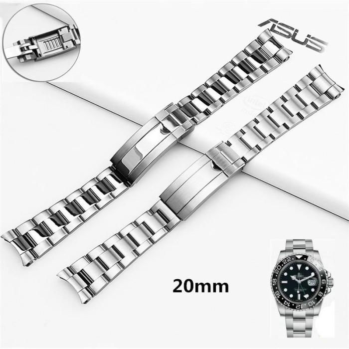 Foto Produk Strap jam Tangan Stainless Steel Silver 316L Dengan Kunci Tiram dari Tuku Onlen Jam