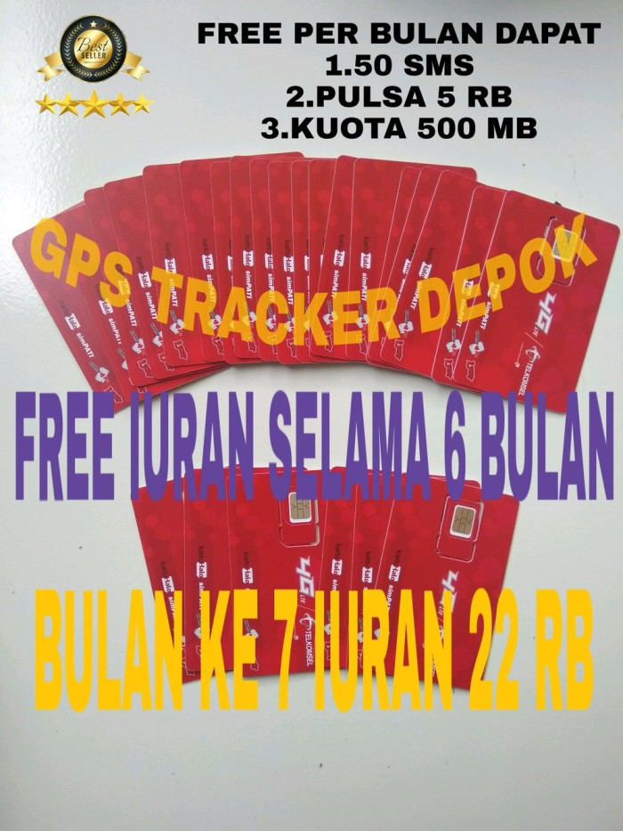 Foto Produk kartu hallo all gps tracker PAKET 6 BULAN KG43 dari Elin_