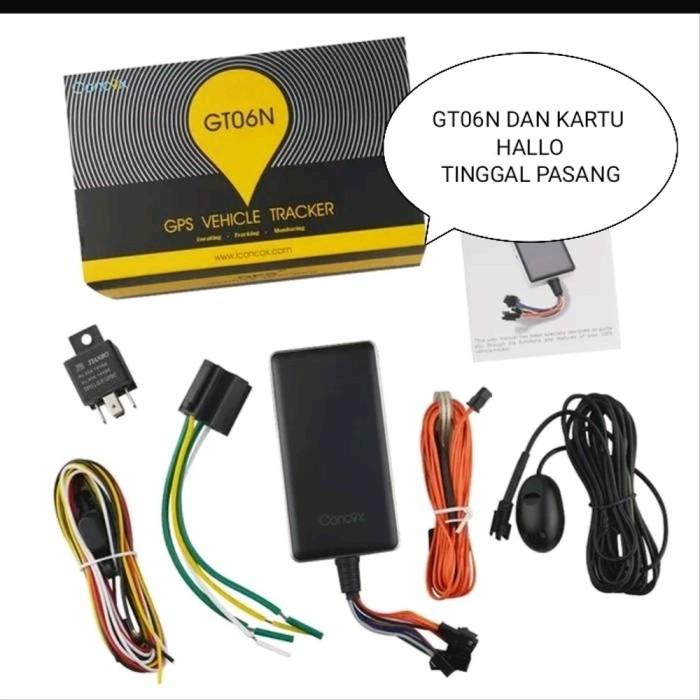 Foto Produk gps tracker gt06n dan kartu hallo iuran murah 22 rb tin KG43 dari Nenot_