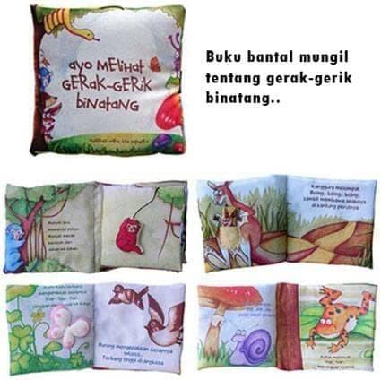Foto Produk Mainan Anak Edukasi | Softbook | Buku Bantal Mengenal Gerak Binatang dari hiro kenichi
