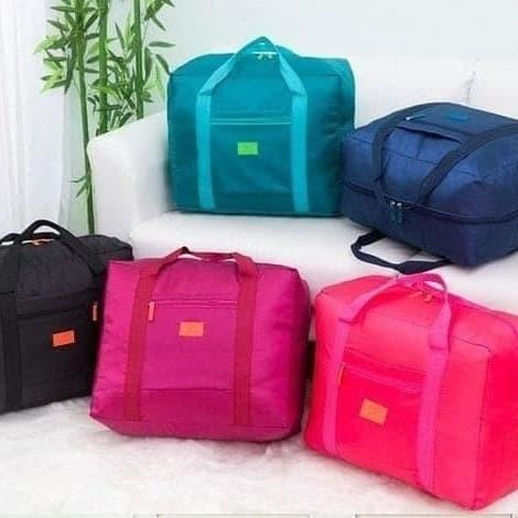 Foto Produk FOLDABLE BAG / HAND CARRY TAS LIPAT / KOPER LUGGAGE TAS ORGANIZER - Biru dari Bre&co.