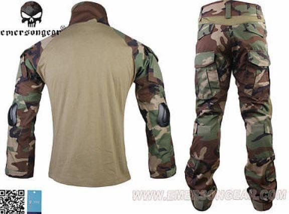 Foto Produk Baju Tactical Combat Shirt Woodland Gen 2 Emerson Ori Elbow Kneepad dari Fiana Dewira
