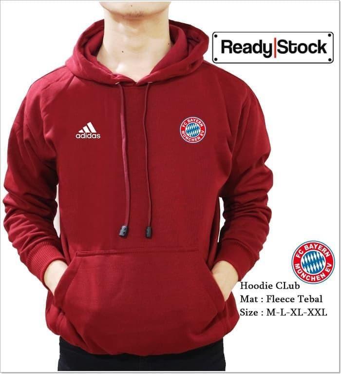 Foto Produk Termurah Jaket Sweater Bola Bayern Munchen Maroon Palingmurah dari ANWAR IBRAHIMstore