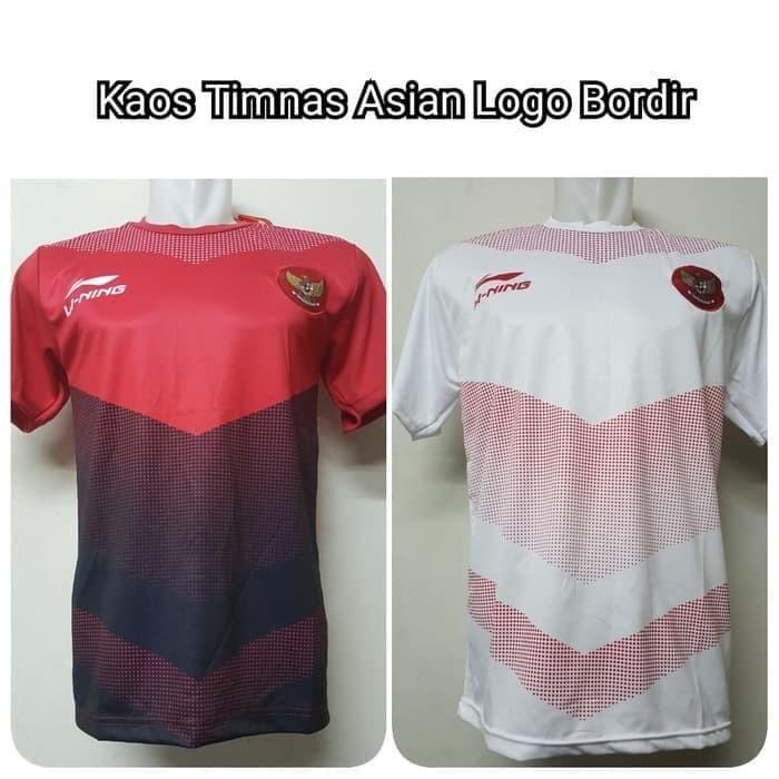 Foto Produk Palingmurah Kaos Baju Lining Timnas Asian Games 2018 Merah Putih dari MAWARIDAstore