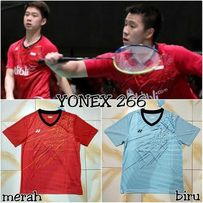 Foto Produk Termurah Baju Badminton Yonex 266 Import Baju Yonex Exc Kevin Gideon dari MAWARIDAstore