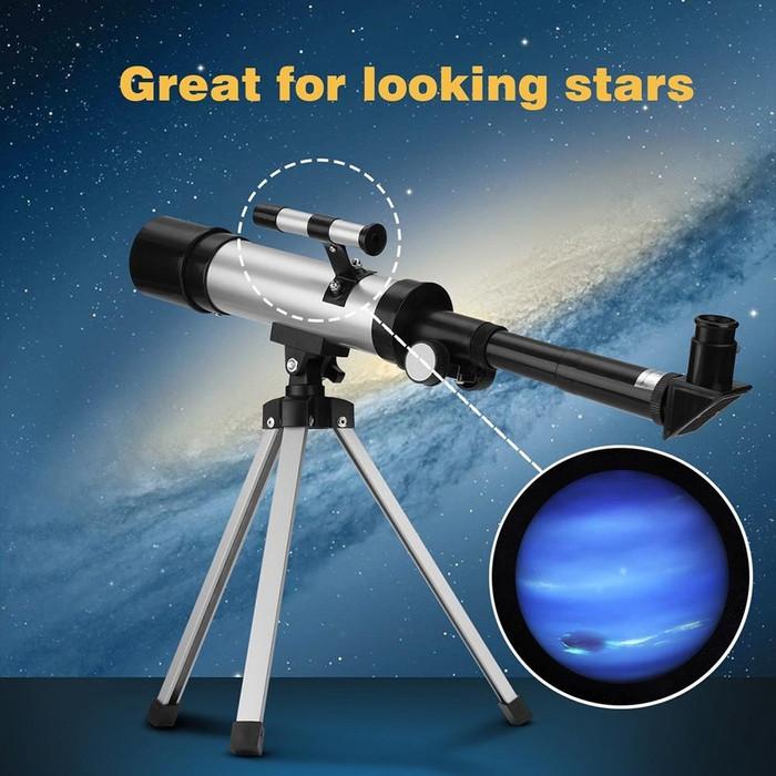 Foto Produk F36050M Silver Single tube Telescope Diskon dari untitel_MART