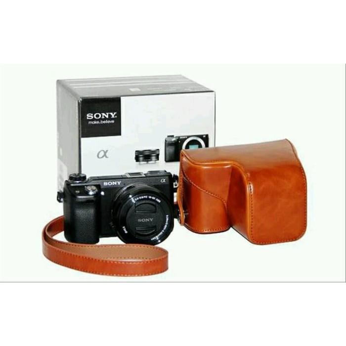 Foto Produk Leather Case Camera for Sony Alpha A6000 - Hardcase Case Cover Kamera dari Ambar_wati