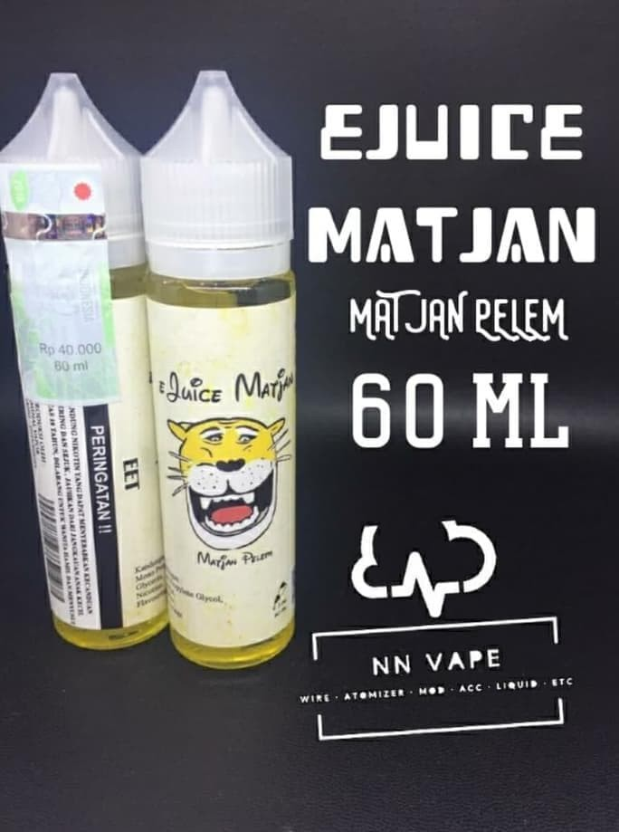 Foto Produk E-Liquid Premium LOKAL e-Juice Matjan pelem 60ml 3mg - authentic dari Dhimas Julio Tanubrata
