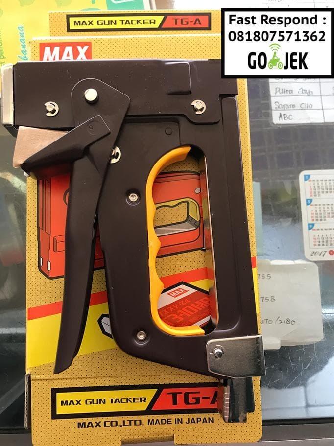 Foto Produk gun tacker TGA max (JAPAN) stapler tembak dari kevinolshop_54