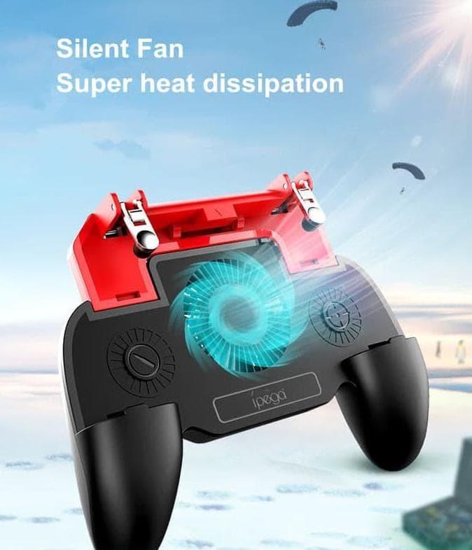 Foto Produk Gamepad PUBG IPEGA All In One Cooling Fan + L1R1 + Power 2000mAh dari FajarrahmanOlshop